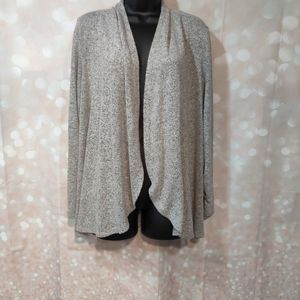 Apt 9 Soft Open Front Sweater Ruched Sleeves Sz L